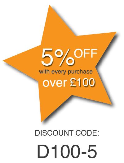 5% Off over £100