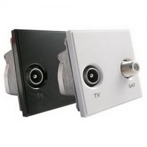 RJ45 / TV / Sky / Tel Grid Outlet Module