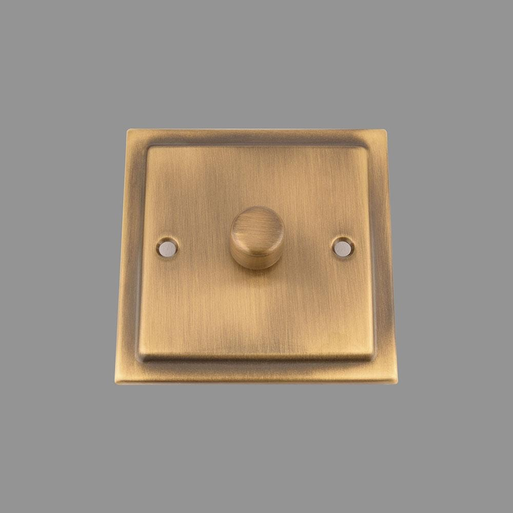 Dimmer Switch; Antique Brass Victorian; 1 Gang; 400W