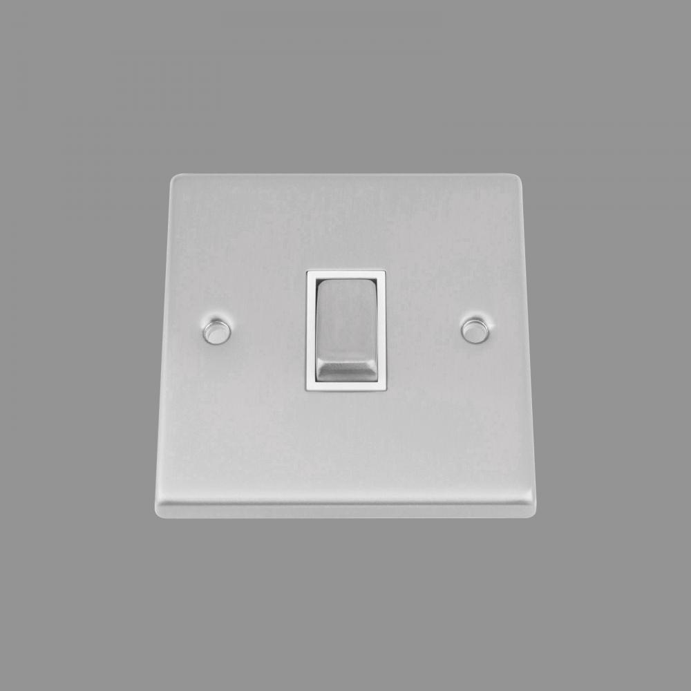White Insert Metal Rocker Switch