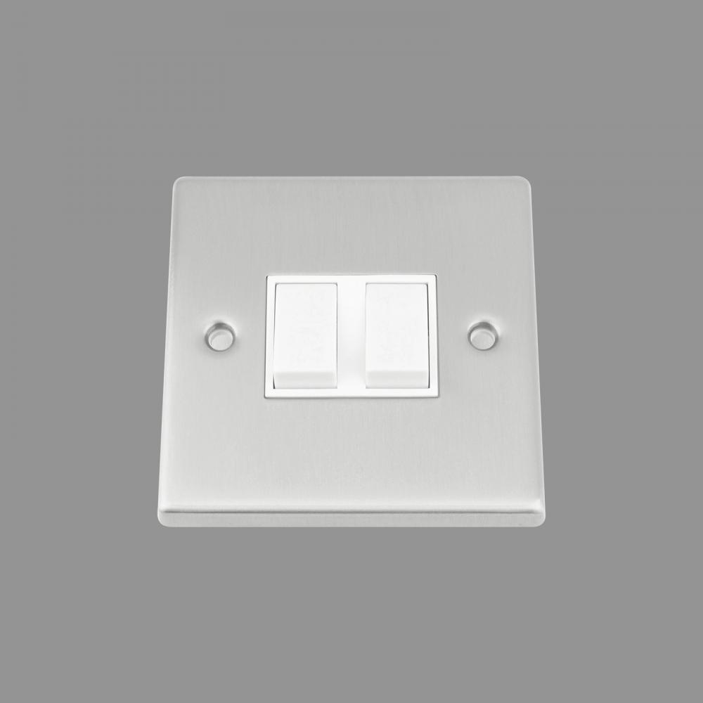 White Insert Plastic Rocker Switch