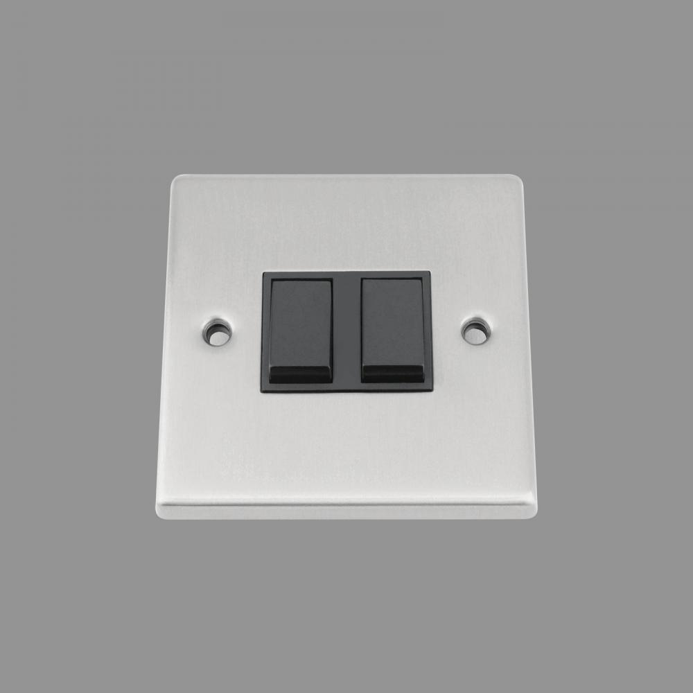 Black Insert Plastic Rocker Switch
