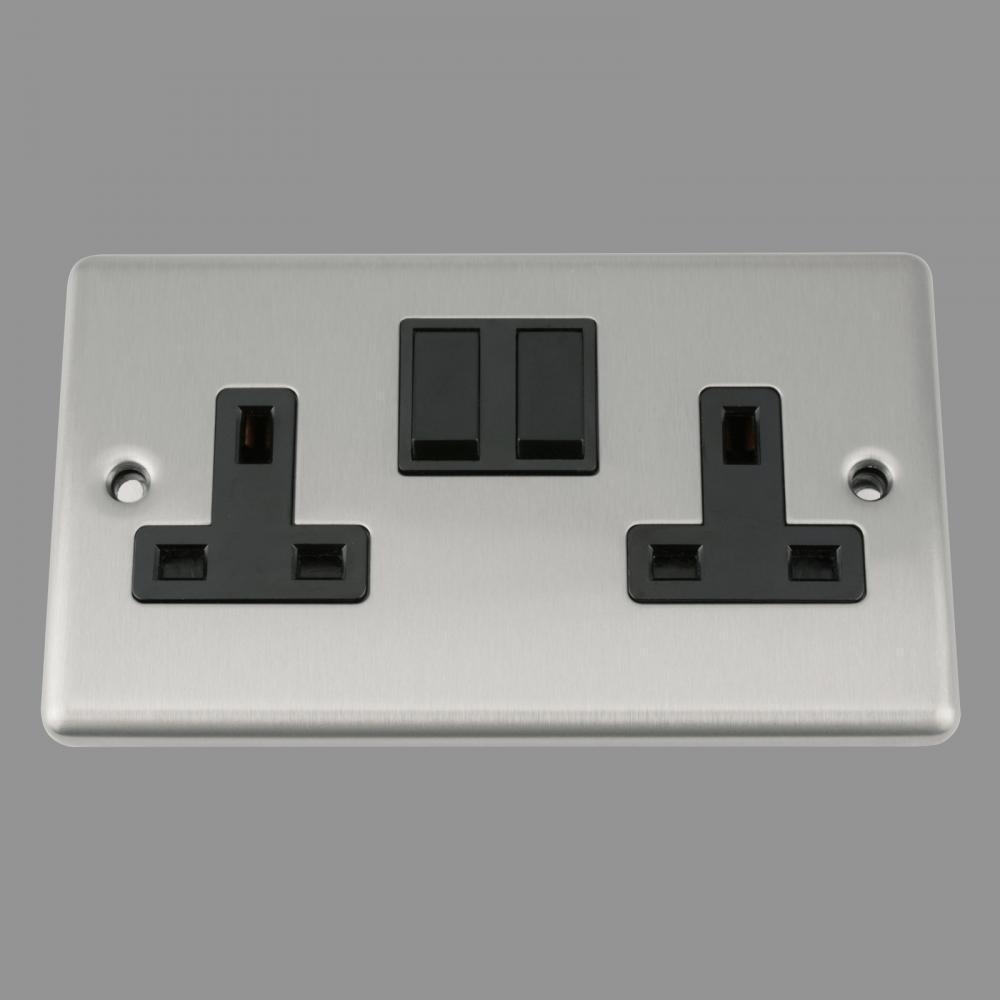 Black Insert Plastic Rocker Switch