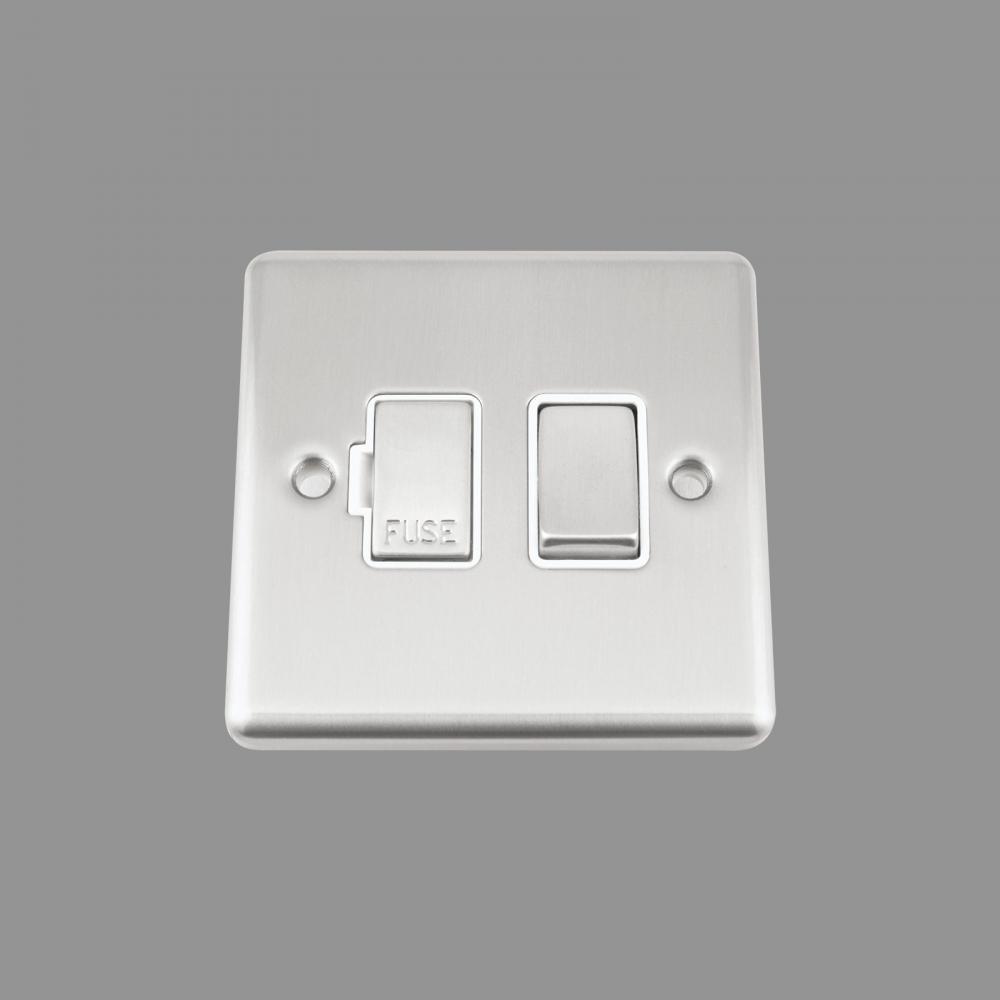 White Insert Metal Rocker Switch (NEW!!)