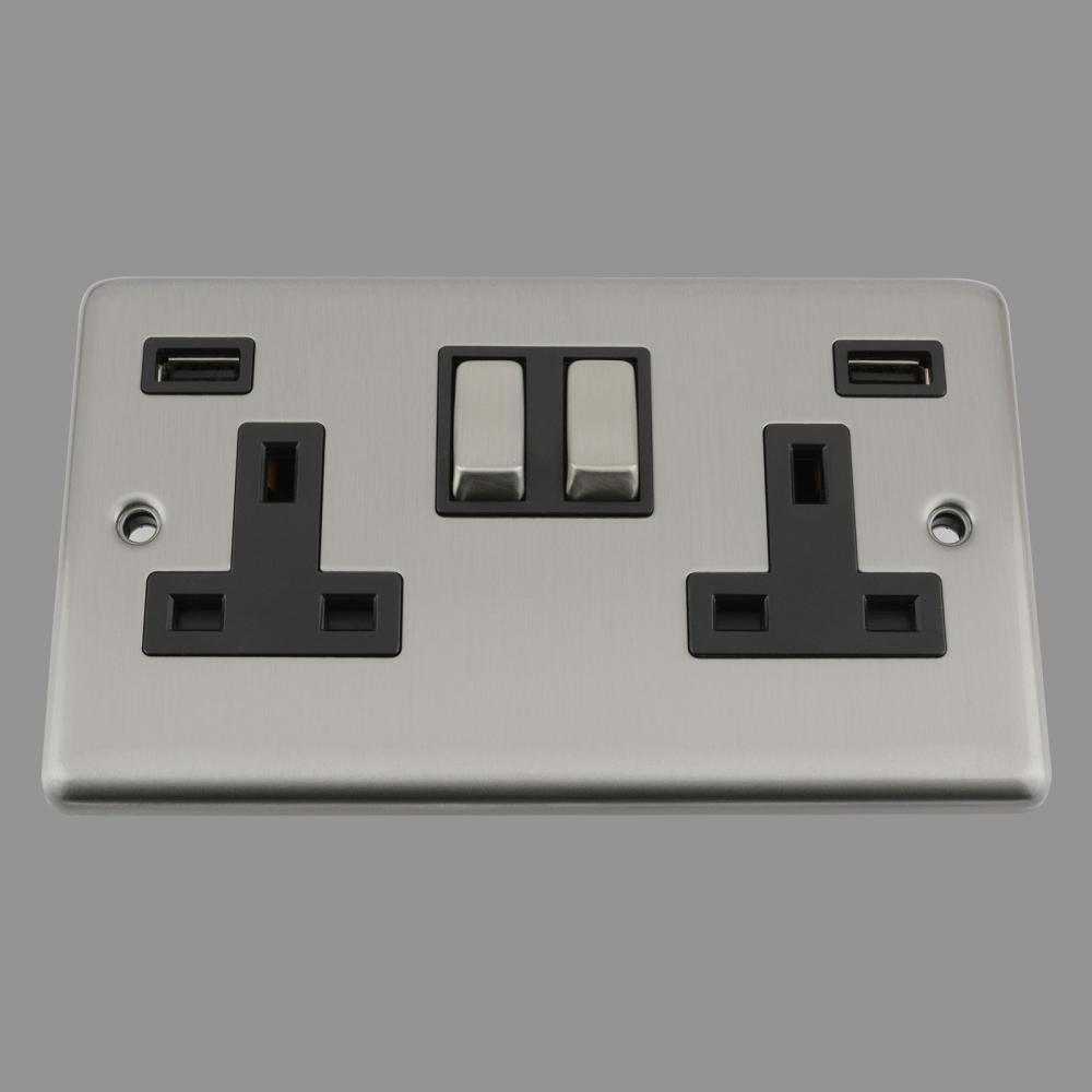 Black Insert Metal Rocker Switch