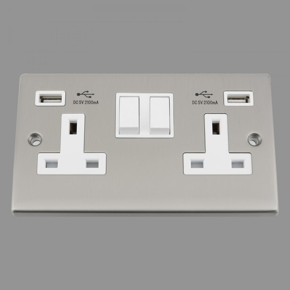 White Insert Plastic Rocker Switch 2.1