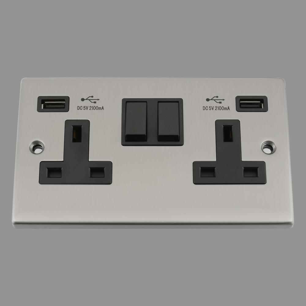 Black Insert Plastic Rocker Switch 2.1