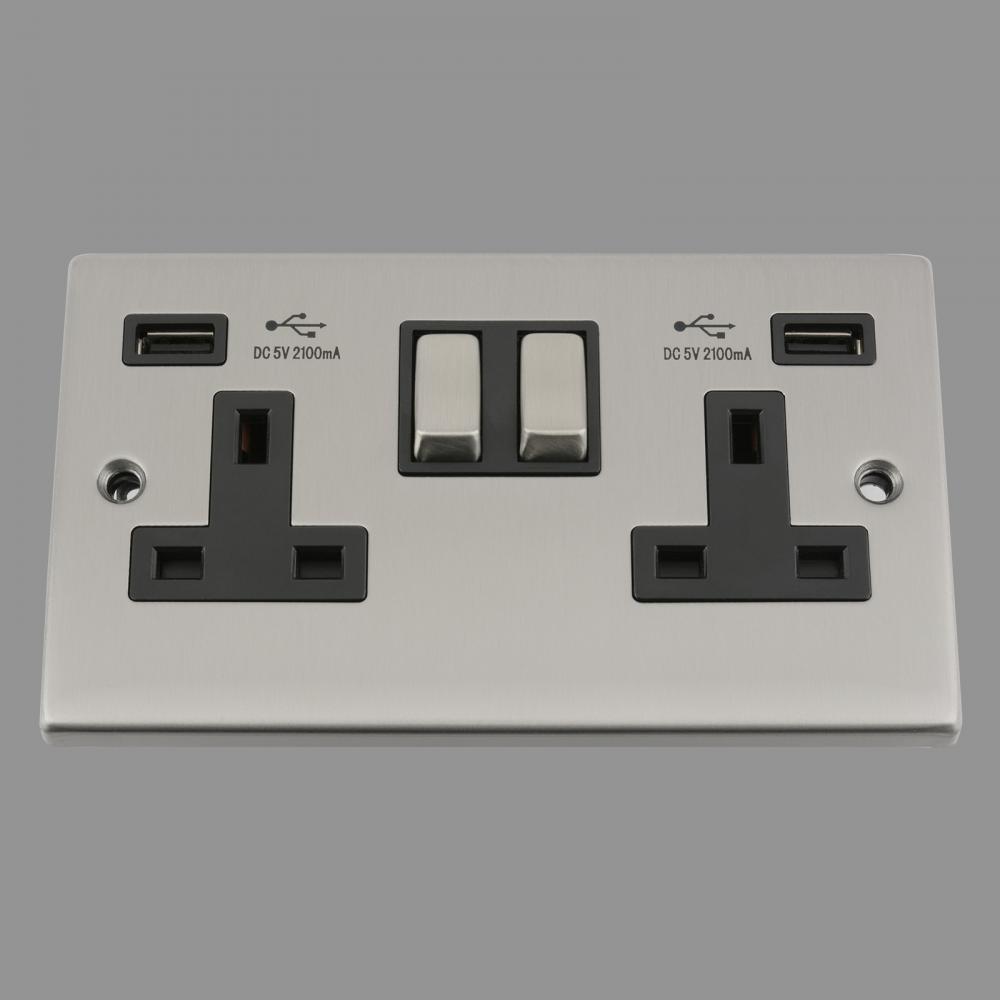 Black Insert Metal Rocker Switch 2.1