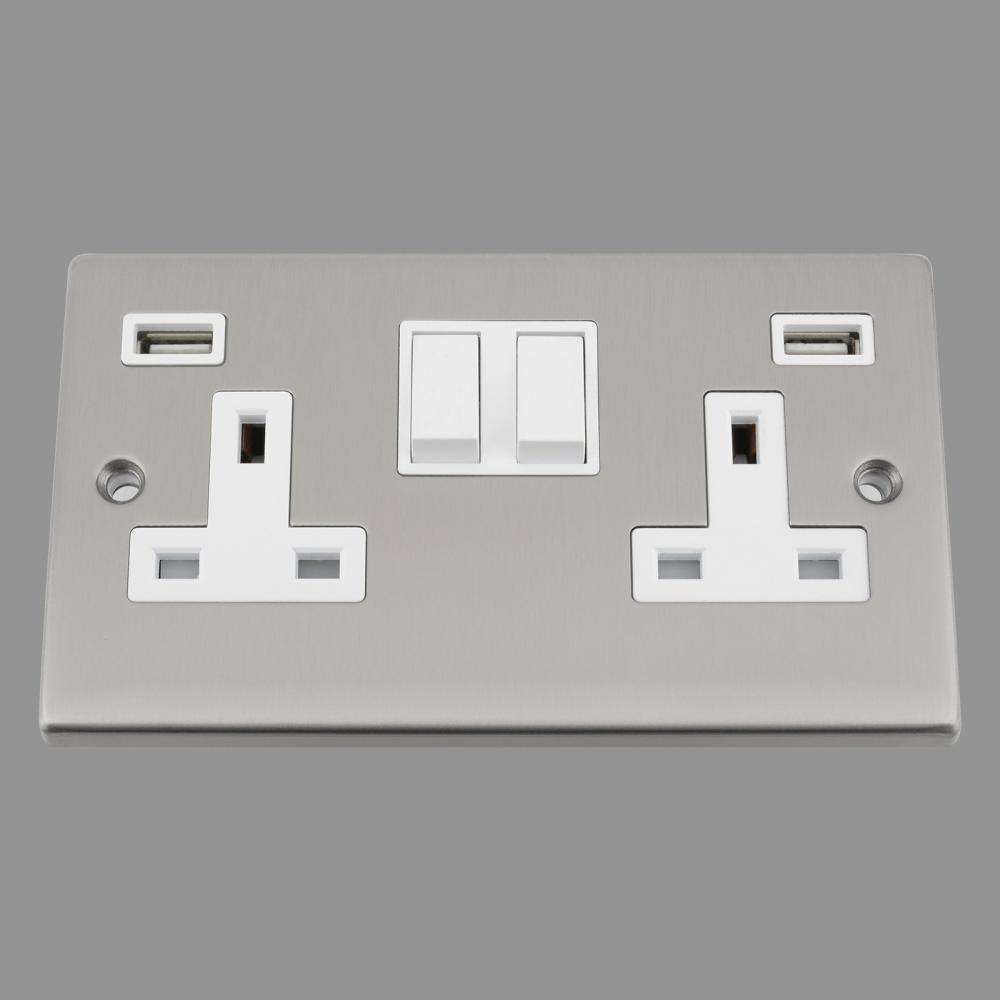 White Insert Plastic Rocker Switch 3.1