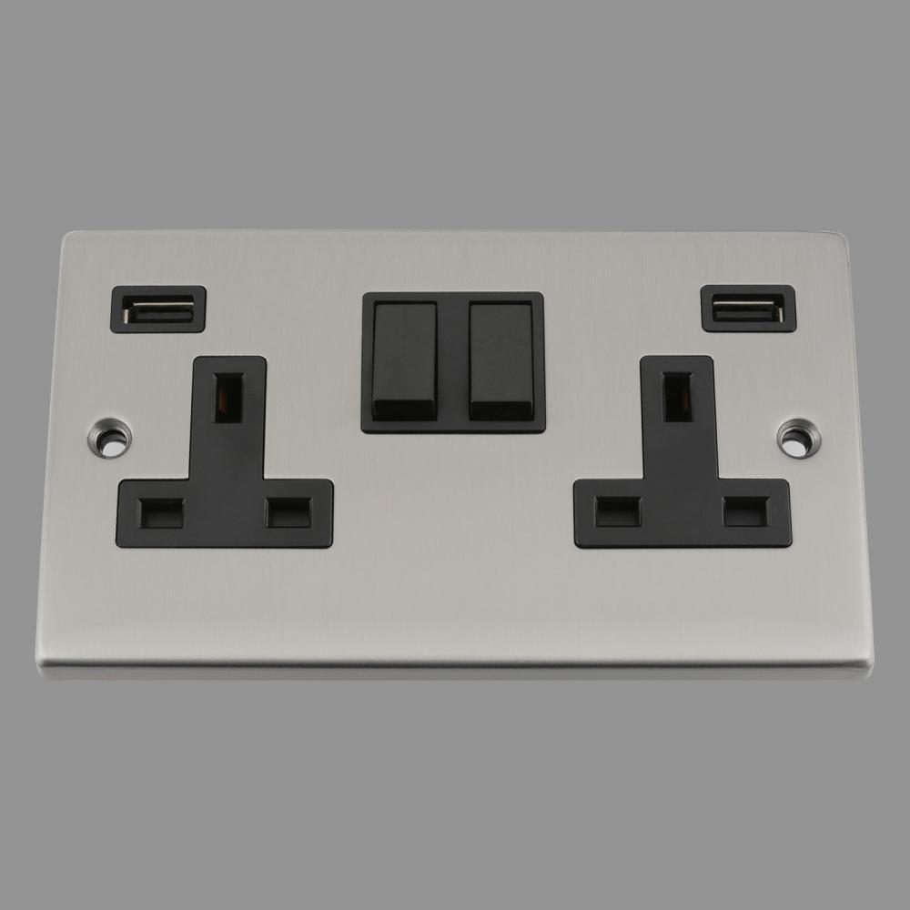 Black Insert Plastic Rocker Switch 3.1