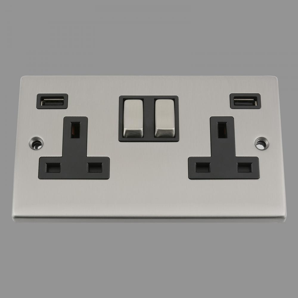 Black Insert Metal Rocker Switch 3.1