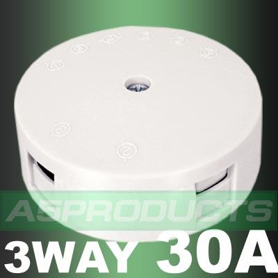 JUNCTION BOX White 30Amp