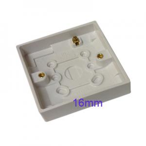 Surface Mount Pattress Back Box Single 1 Gang 16mm White