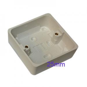 Surface Mount Pattress Back Box Single 1 Gang 25mm White
