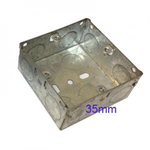 Wall Pattress Back Box Single 1 Gang 35mm Steel Metal