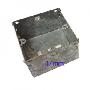 Wall Pattress Back Box Single 1 Gang 47mm Steel Metal