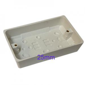 Surface Mount Pattress Back Box Double 2 Gang 25mm White