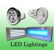 LED Recessed Lighting with Clear Diffuser Blue/White Light 39