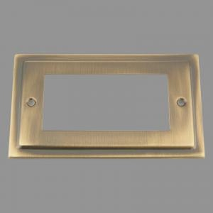 ANTIQUE BRASS VICTORIAN Outlet Faceplate 100X50mm