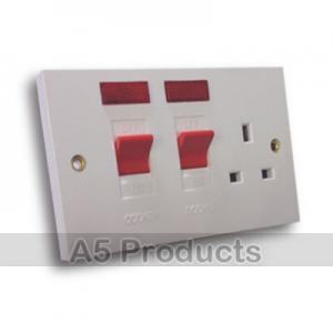 WHITE PLASTIC Cooker Control Unit 45 Amp