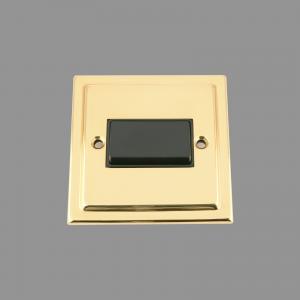 BRASS VICTORIAN Fan Isolator Black Insert; Plastic Rocker Switch