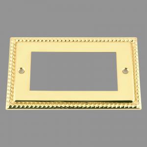 BRASS GEORGIAN Outlet Faceplate 100X50mm