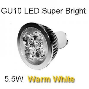 LED GU10 5.5W Dimmable - Warm White Colour 3000K