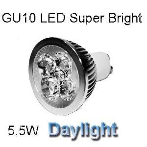 LED GU10 5.5W Dimmable - DayLight Colour 6400K
