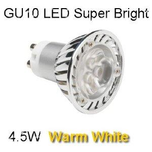 LED GU10 4.5W DIMMABLE - WARM WHITE COLOUR 3000K