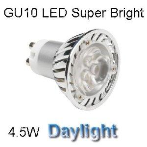 LED GU10 4.5W DIMMABLE - WARM WHITE COLOUR 6400K