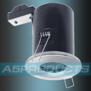 IP65 MR16 SATIN Brushed / Polished CHROME Low Voltage Fire Rated Downlighter