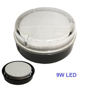 LED SMD 2D 9W Daylight 6400K Round Ceiling Wall Light Fitting Bulkhead 4 Pin