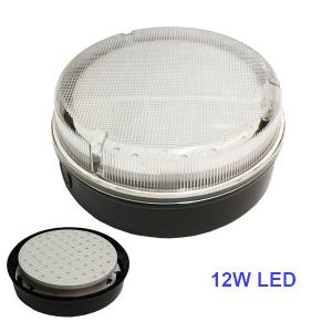 LED SMD 2D 12W Daylight 6400K Round Ceiling Wall Light Fitting Bulkhead 4 Pin