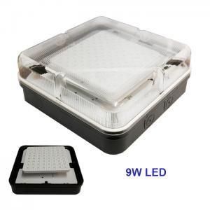 LED SMD 2D 9W Daylight 6400K Square Ceiling Wall Light Fitting Bulkhead 4 Pin
