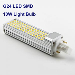 LED G24 SMD 5050 10W Cool White 4000K Light Bulb 2 Pin - CFL Replacement