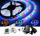 LED Strip Lights RGB Colour-Changing with Remote and 12V Power Cable SMD 3528