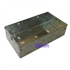 Wall Pattress Back Box Double 2 Gang 35mm Steel Metal